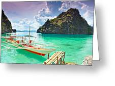 Coron Lagoon Greeting Card