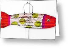 Deco Fish Red Greeting Card