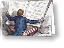 Election Cartoon, 1876 Greeting Card