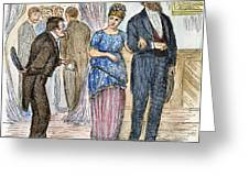 Election Cartoon, 1877 Greeting Card