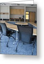 Empty Boardroom Or Meeting Room In An Greeting Card