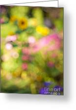 Flower Garden In Sunshine Greeting Card