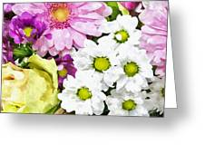 Flowers For The Girlfriend Greeting Card