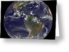 Full Earth Showing North America Greeting Card by Stocktrek Images
