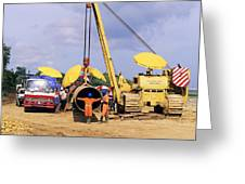 Gas Line Construction Greeting Card