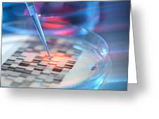 Genetic Research, Conceptual Image Greeting Card