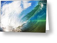 Glassy Breaking Wave Greeting Card