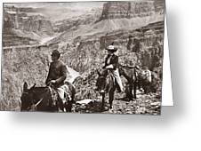 Grand Canyon: Sightseers Greeting Card