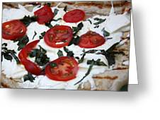 Grilled Pizza Greeting Card