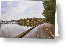 In Urban Stanley Park The Promenade Greeting Card by Douglas Orton