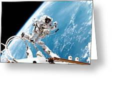 Iss Space Walk Greeting Card