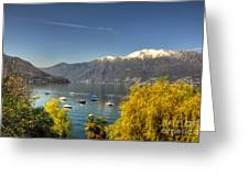 Lake With Snow-capped Mountain Greeting Card