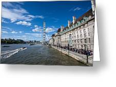 London Eye And County Hall Greeting Card