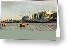 London Skyline Sunset Greeting Card