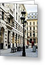 London Street Greeting Card by Elena Elisseeva
