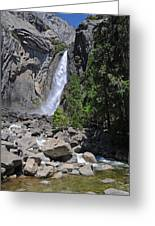 Lower Yosemite Falls Greeting Card