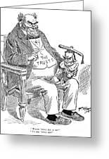 Mckinley Cartoon, 1900 Greeting Card