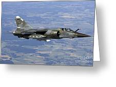 Mirage F1cr Of The French Air Force Greeting Card