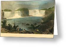 Niagara Falls, 1837 Greeting Card
