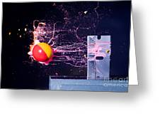 Paintball Shot At Razor Blade Greeting Card