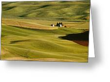 Palouse Fields Whitman County Greeting Card