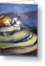 Paros Lefkes Greeting Card by George Siaba