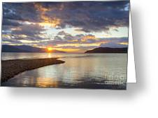 Pend Oreille Sunset Greeting Card