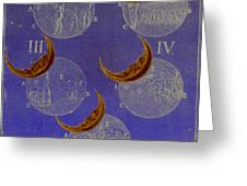 Phases Of An Eclipse Greeting Card