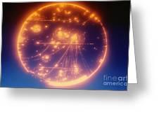 Proton-photon Collision Greeting Card