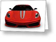 Red Ferrari F430 Scuderia Greeting Card