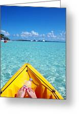 Relaxing At Coco Cay In The Bahamas Greeting Card