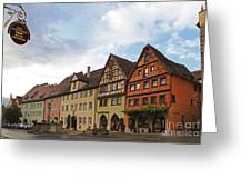 Rothenburg Medieval Old Town  Greeting Card