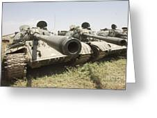 Russian T-54 And T-55 Main Battle Tanks Greeting Card