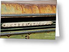 Rusted Antique International Car Brand Ornament Greeting Card