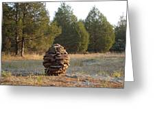 Sandstone Cairn Nature Art Sculpture Greeting Card