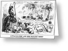 Secession Cartoon, 1861 Greeting Card