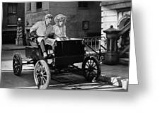 Silent Film: Automobiles Greeting Card
