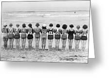 Silent Film Still: Beach Greeting Card