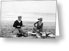 Silent Film Still: Picnic Greeting Card by Granger