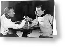 Silent Film Still: Uniforms Greeting Card