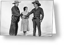 Silent Film Still: Western Greeting Card