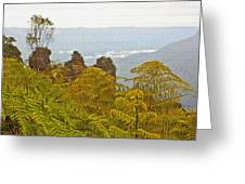 3 Sisters Blue Mountains Greeting Card