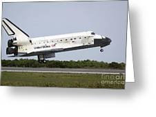 Space Shuttle Discovery Approaches Greeting Card
