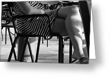 Stripped Dress Greeting Card