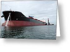Tanker Ship  Greeting Card