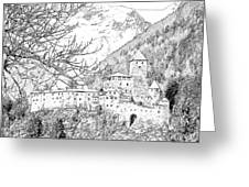 Taufers Knights Castle Valle Aurina Italy Greeting Card by Joseph Hendrix