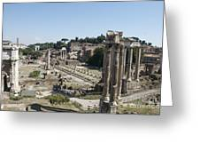 Temple Of Saturn In The Forum Romanum. Rome Greeting Card by Bernard Jaubert
