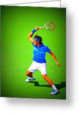 Tennis Art Greeting Card