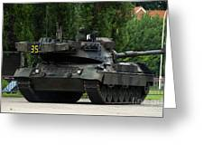 The Leopard 1a5 Mbt Of The Belgian Army Greeting Card by Luc De Jaeger