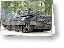 The Leopard 1a5 Of The Belgian Army Greeting Card by Luc De Jaeger